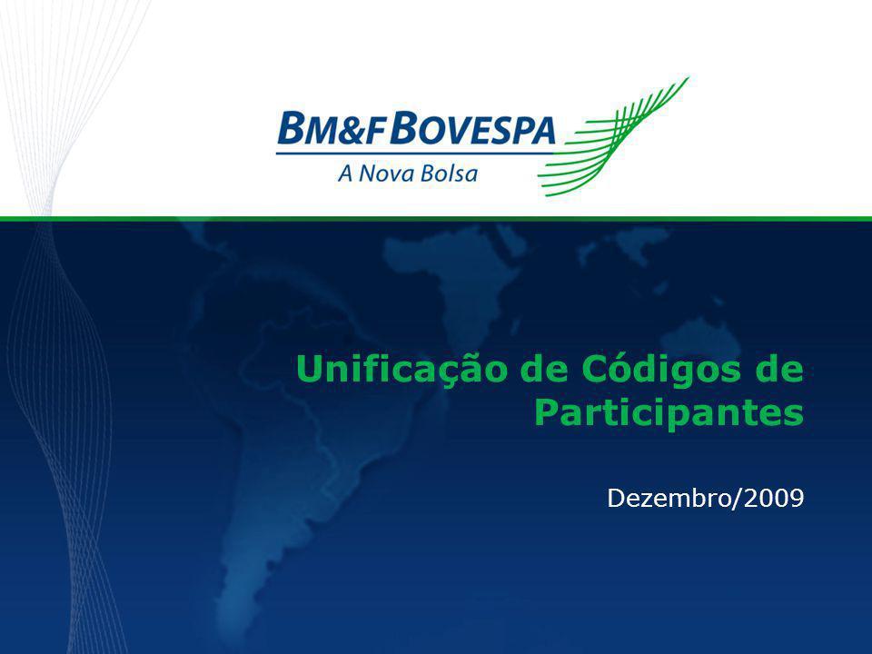  Objetivo  Justificativa  Premissas  Impactos – Cadastro, Garantias, Custódia e Risco – Liquidação – Negociação – BM&F Serviços Agenda Unificação de códigos