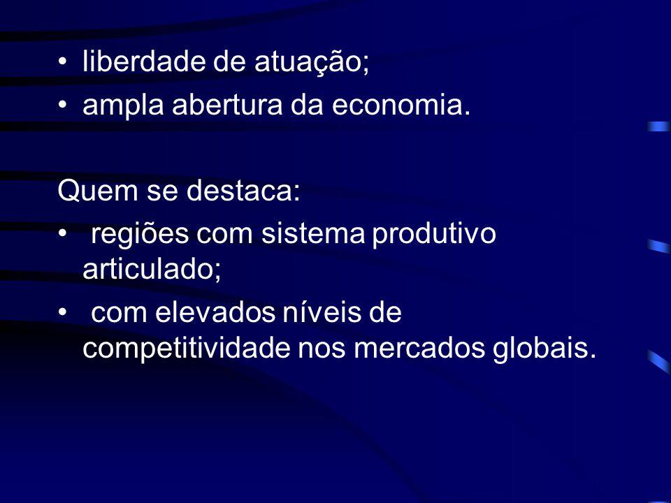 Globalização •contínua integração da economia mundial; •aumento das desigualdades entre Países e regiões; •disparidades internacionais e inter- regionais;