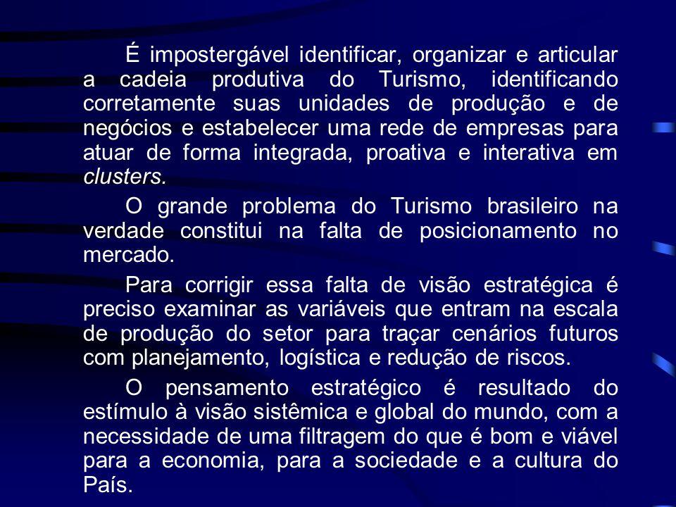 Cluster é, portanto: • esforço; • mobilização; • comunicação; • engajamento; • interação; • sinergia no arranjo produtivo para a consolidação de seu desenvolvimento sustentável.