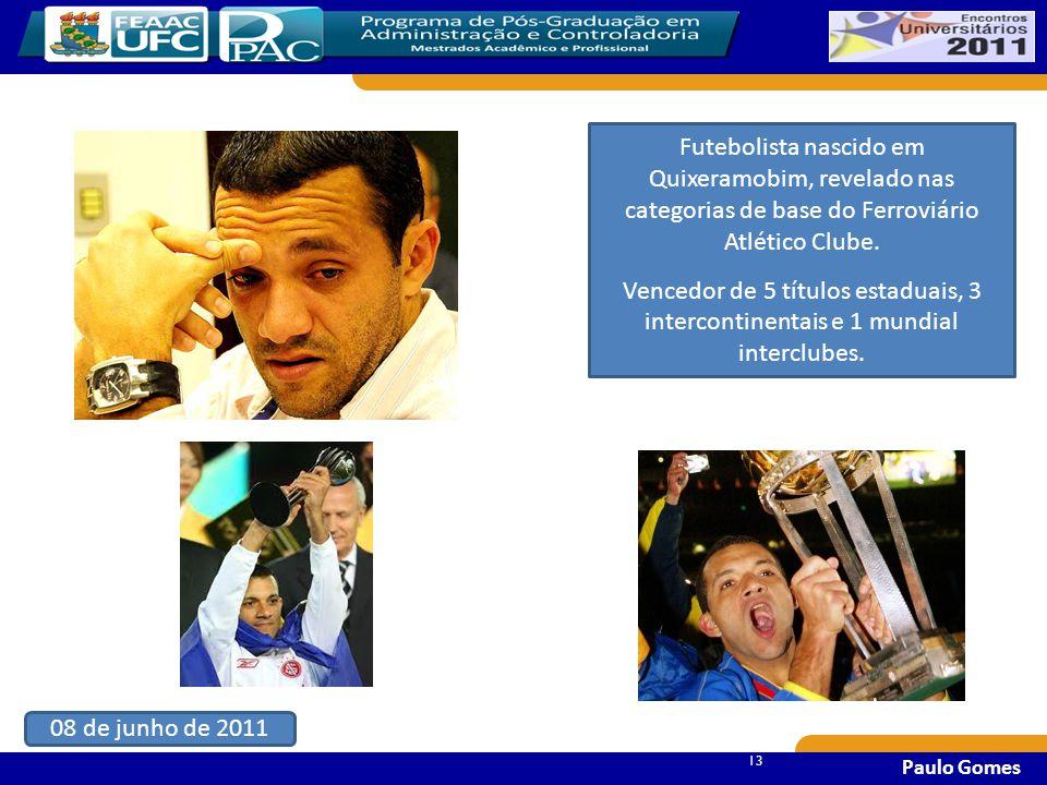 13 Paulo Gomes Futebolista nascido em Quixeramobim, revelado nas categorias de base do Ferroviário Atlético Clube.