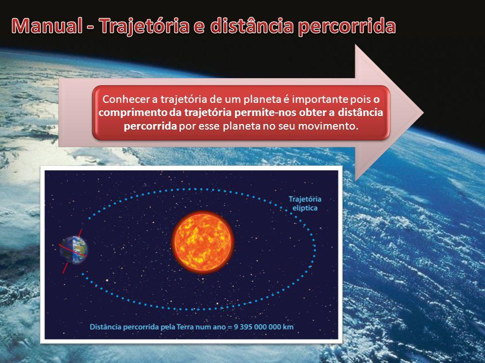 Conhecer a trajetória de um planeta é importante pois o comprimento da trajetória permite-nos obter a distância percorrida por esse planeta no seu movimento.