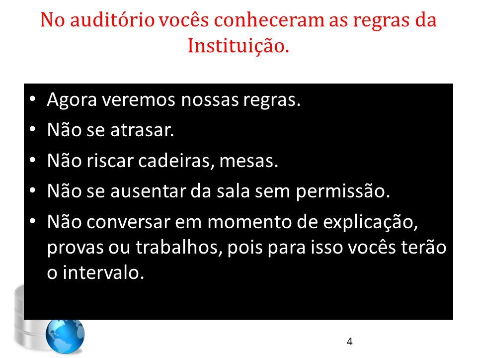 Revisão da Aula Anterior OQUE É BANCO DE DADOS.