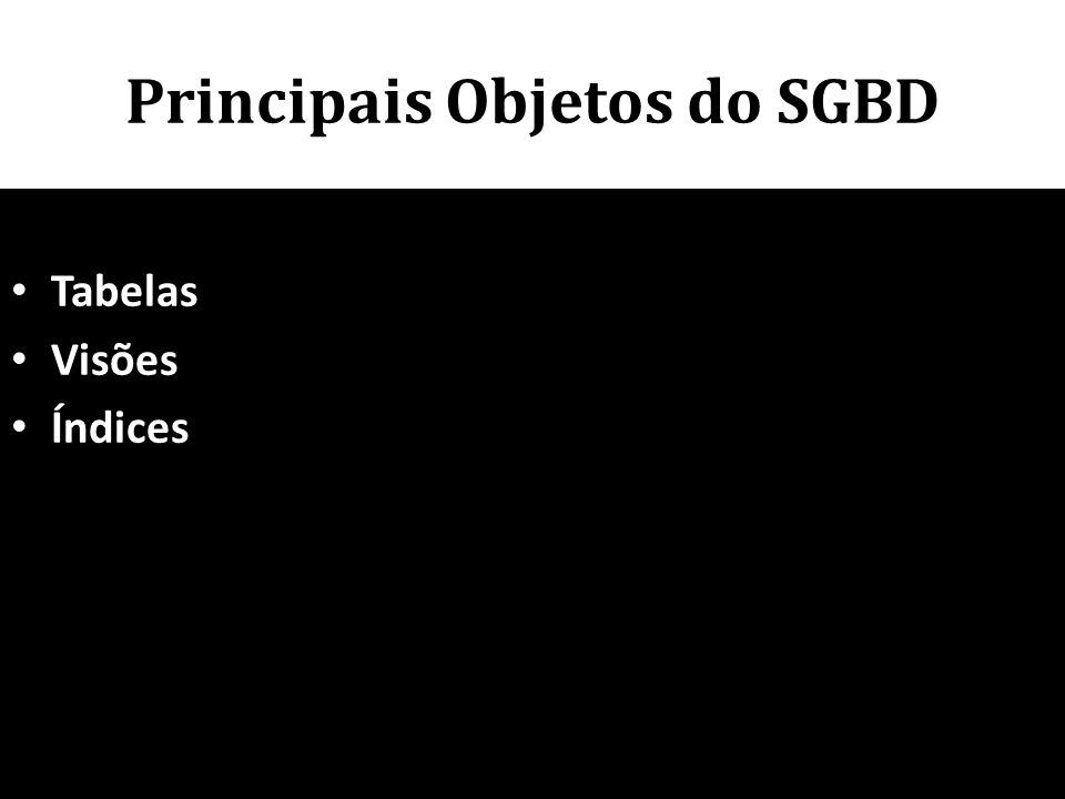 Principais Objetos do SGBD • Tabelas • Visões • Índices 81