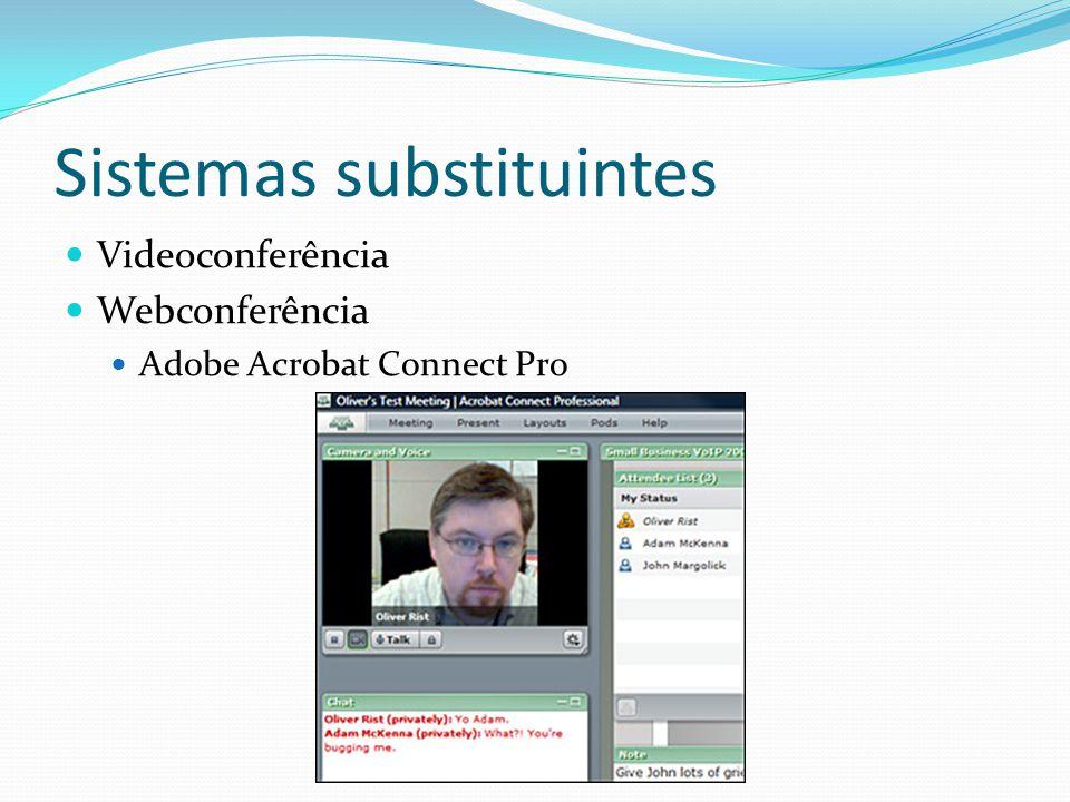 Sistemas substituintes  Videoconferência  Webconferência  Adobe Acrobat Connect Pro