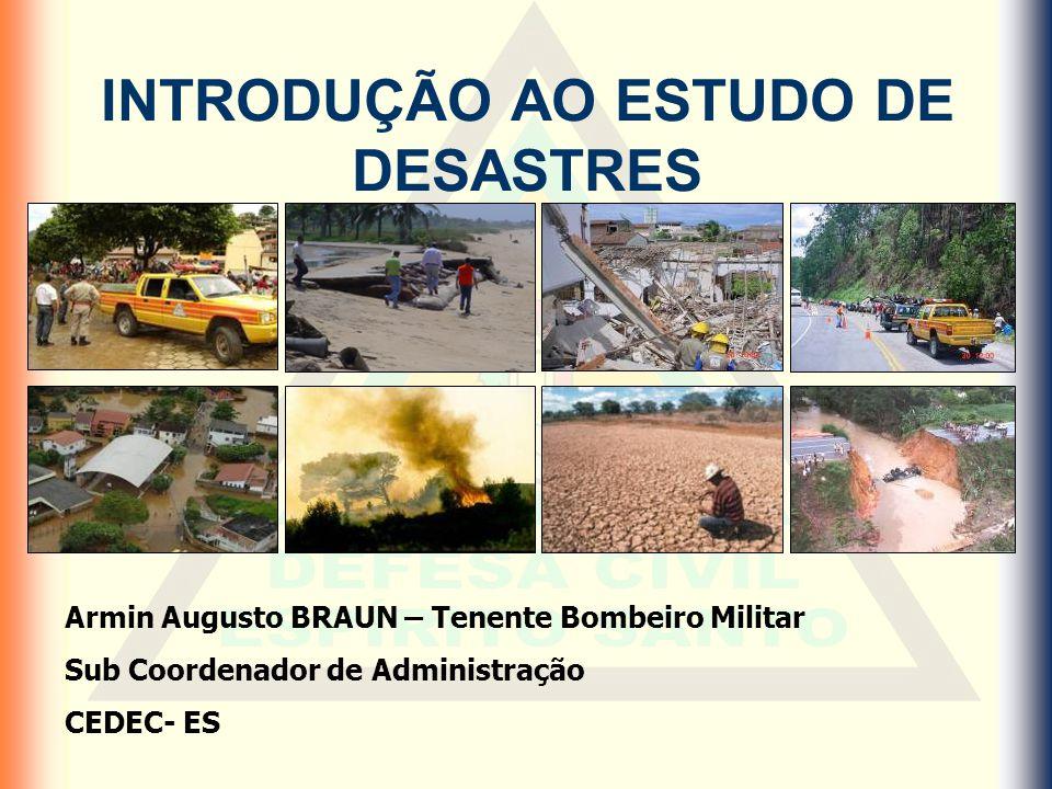 Classificação dos desastres Quanto a Intensidade