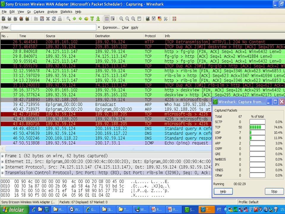 Protocolo de Enlace com Controle de Fluxo PROCEDIMENTO Recebe; VAR Buffer : Dados; Qrec, Qconf : Quadro; Evento : TipoEvento; INICIO REPITA RecebeQuadro (Qrec); Buffer:= Qrec.Info; Pra_Cima (Buffer); EnviaQuadro (Q conf); ATE FALSO; FIM;