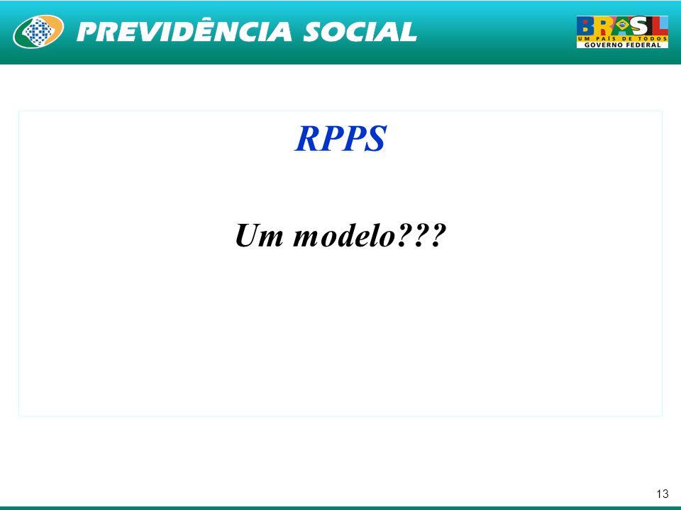 13 RPPS Um modelo???