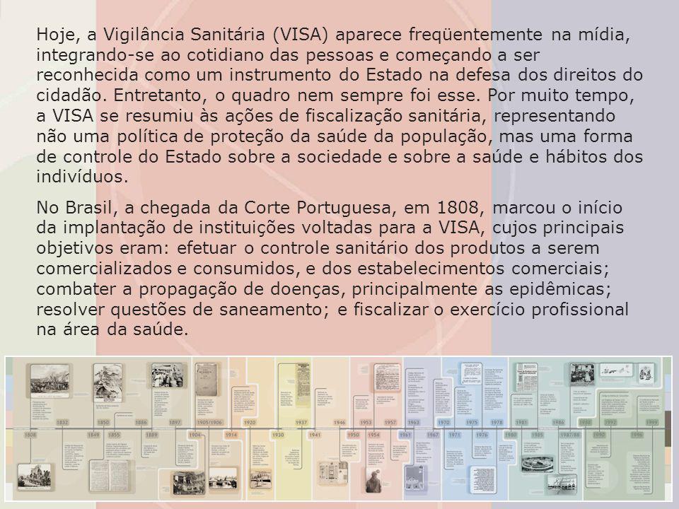 Hoje, a Vigilância Sanitária (VISA) aparece freqüentemente na mídia, integrando-se ao cotidiano das pessoas e começando a ser reconhecida como um inst