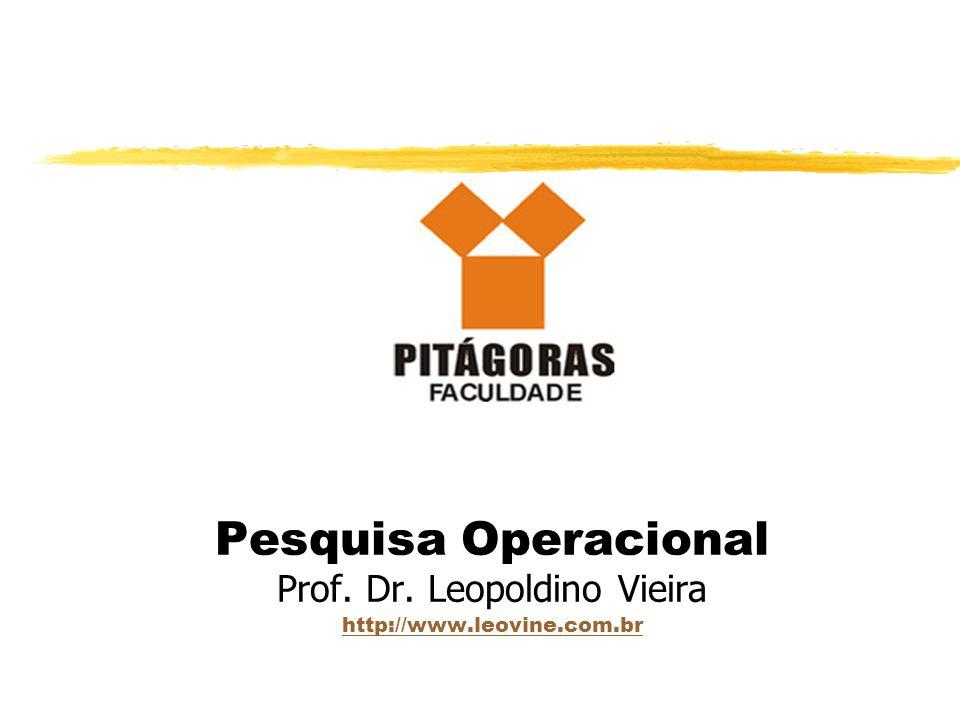Pesquisa Operacional Prof. Dr. Leopoldino Vieira http://www.leovine.com.br http://www.leovine.com.br