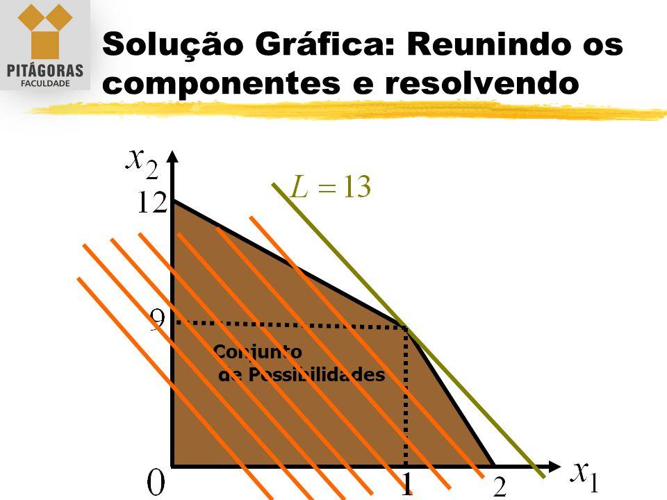 Solução Gráfica: Reunindo os componentes e resolvendo Conjunto de Possibilidades
