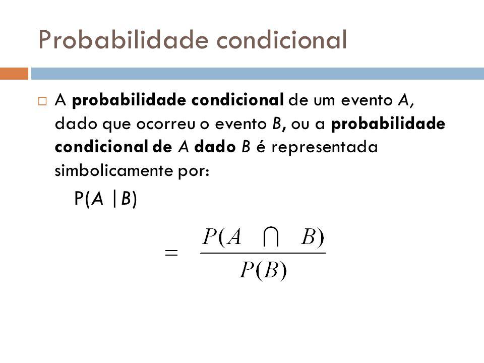 Regras  Adição:  P(E ou F) = P(E) + P(F) - P(E e F)  Subtração:  P(E) = 1 - P(não E)