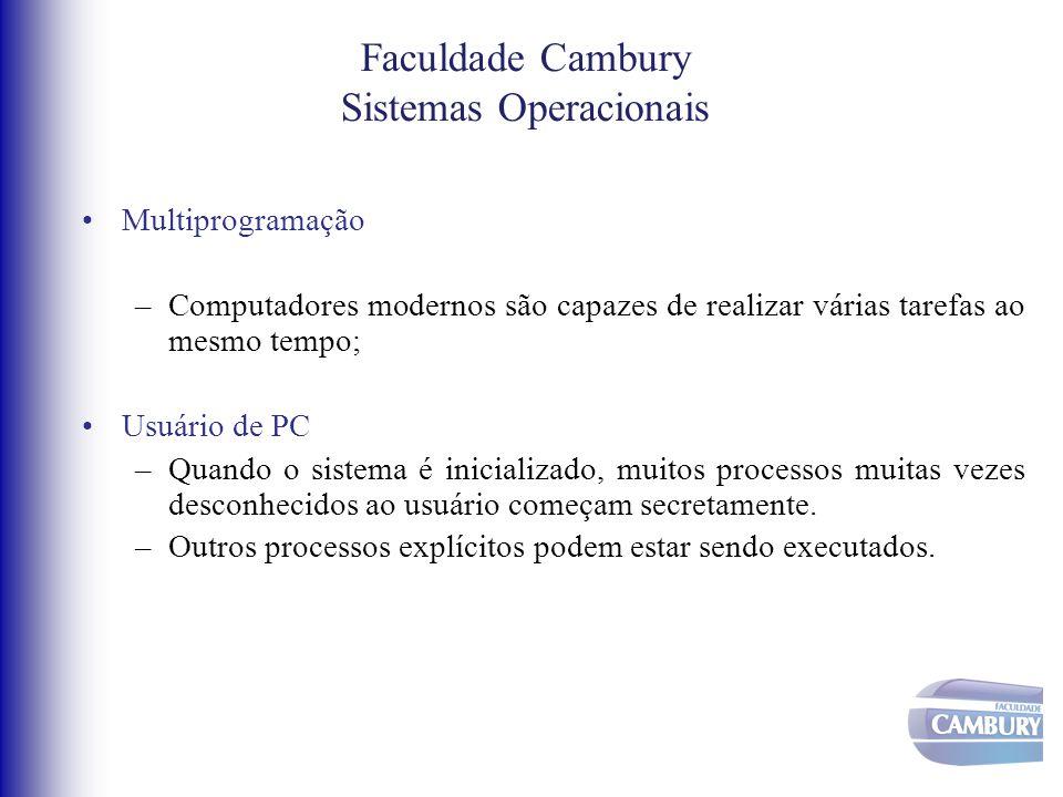Sistemas Operacionais Escalonamento - FIFO •Processos são executados até que terminem ou sejam bloqueados.