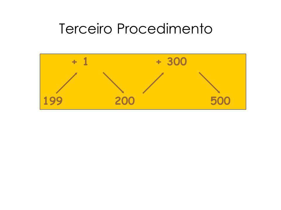 Terceiro Procedimento + 1 + 300 199 200 500