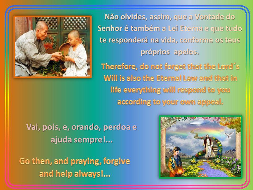Não olvides, assim, que a Vontade do Senhor é também a Lei Eterna e que tudo te responderá na vida, conforme os teus próprios apelos.