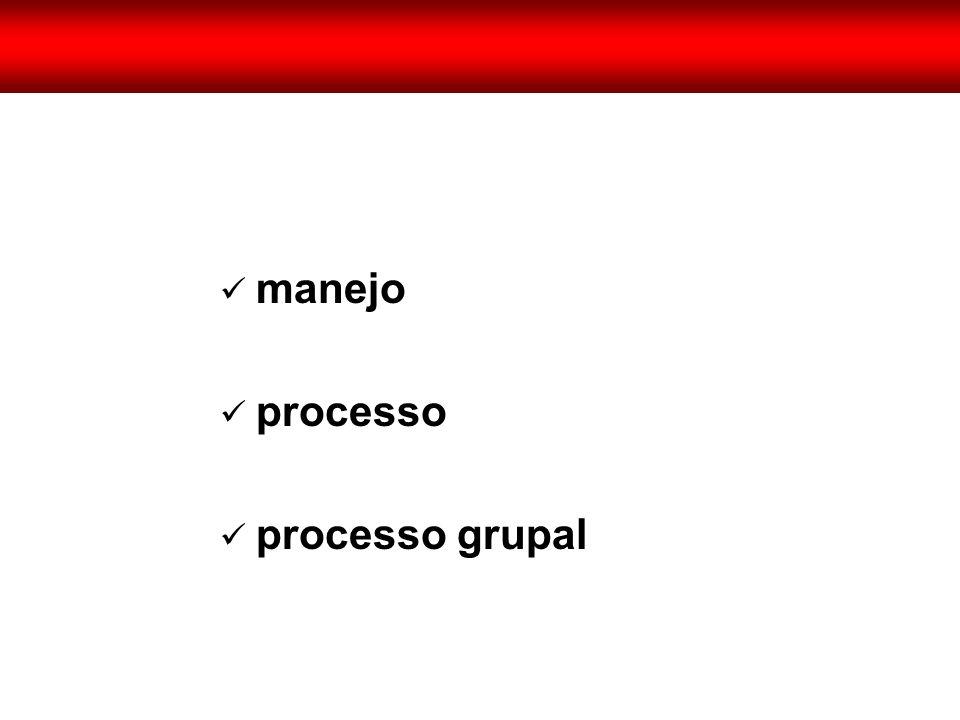  manejo  processo  processo grupal