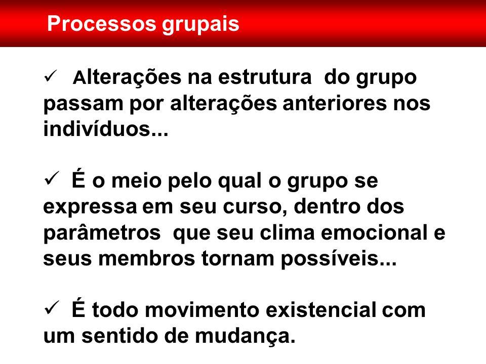 Importância dos processos grupais  É o que diferencia um grupo.