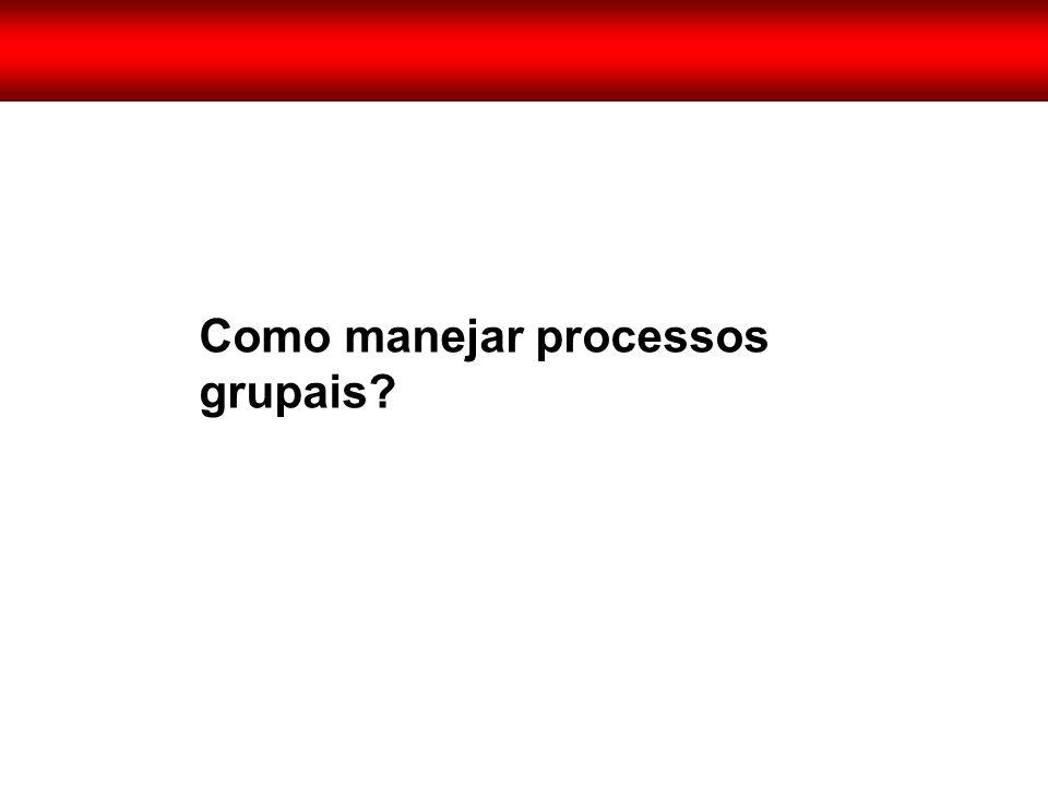 Como manejar processos grupais?