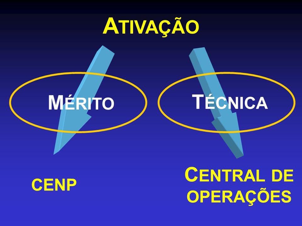 A TIVAÇÃO CENP C ENTRAL DE OPERAÇÕES T ÉCNICA M ÉRITO
