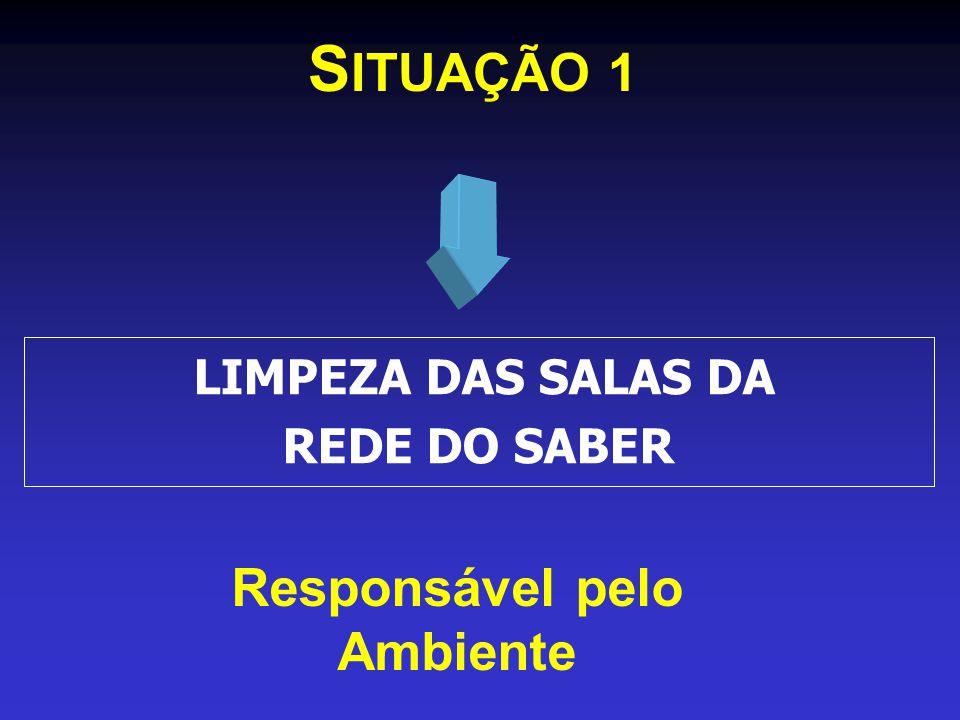 S ITUAÇÃO 1 Responsável pelo Ambiente LIMPEZA DAS SALAS DA REDE DO SABER