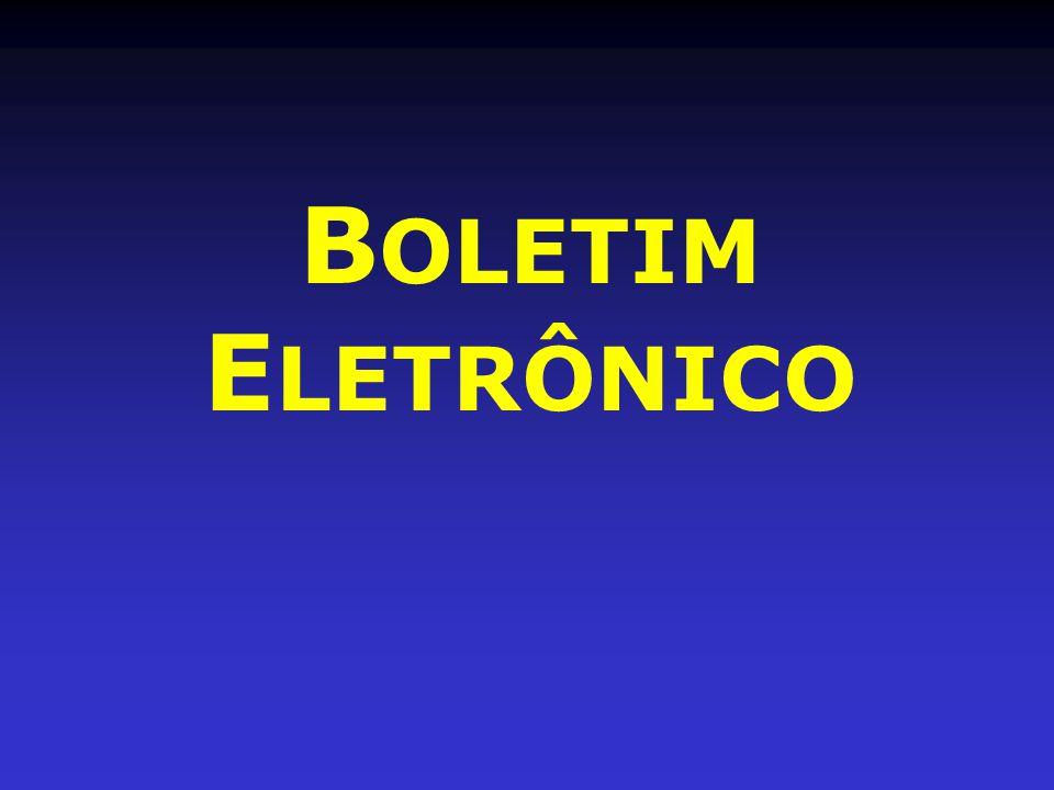B OLETIM E LETRÔNICO