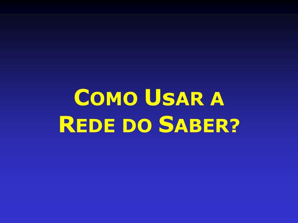 C OMO Us AR A R EDE DO S ABER?