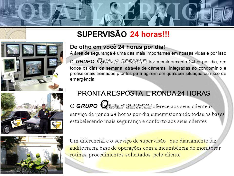 PRONTA RESPOSTA E RONDA 24 HORAS SUPERVISÃO 24 horas!!.