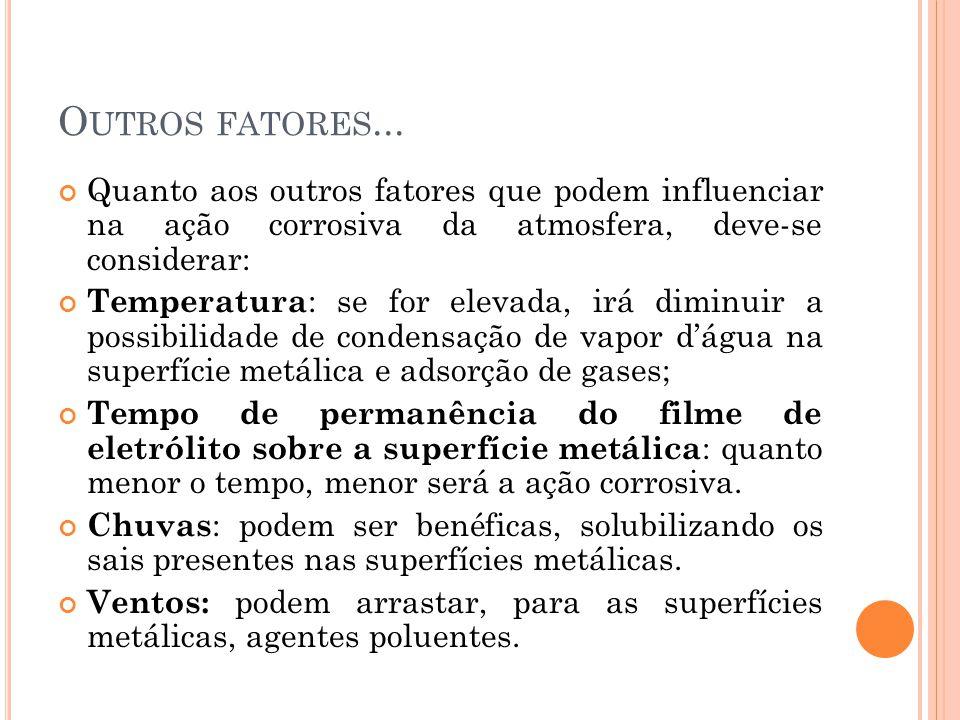 O UTROS FATORES...