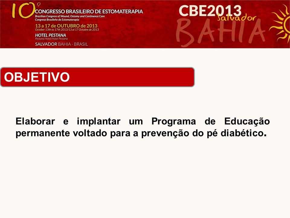 Elaborar e implantar um Programa de Educação permanente voltado para a prevenção do pé diabético.