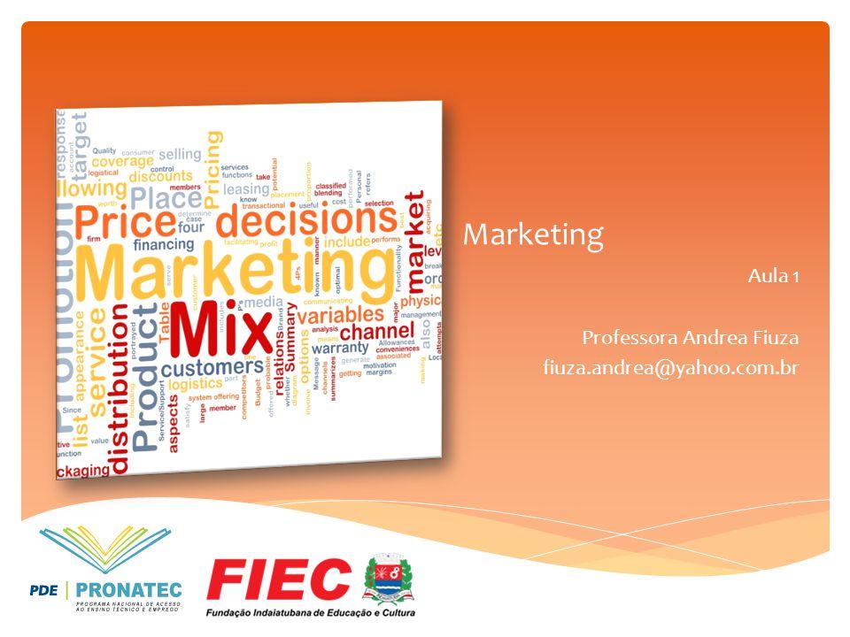 Marketing Aula 1 Professora Andrea Fiuza fiuza.andrea@yahoo.com.br