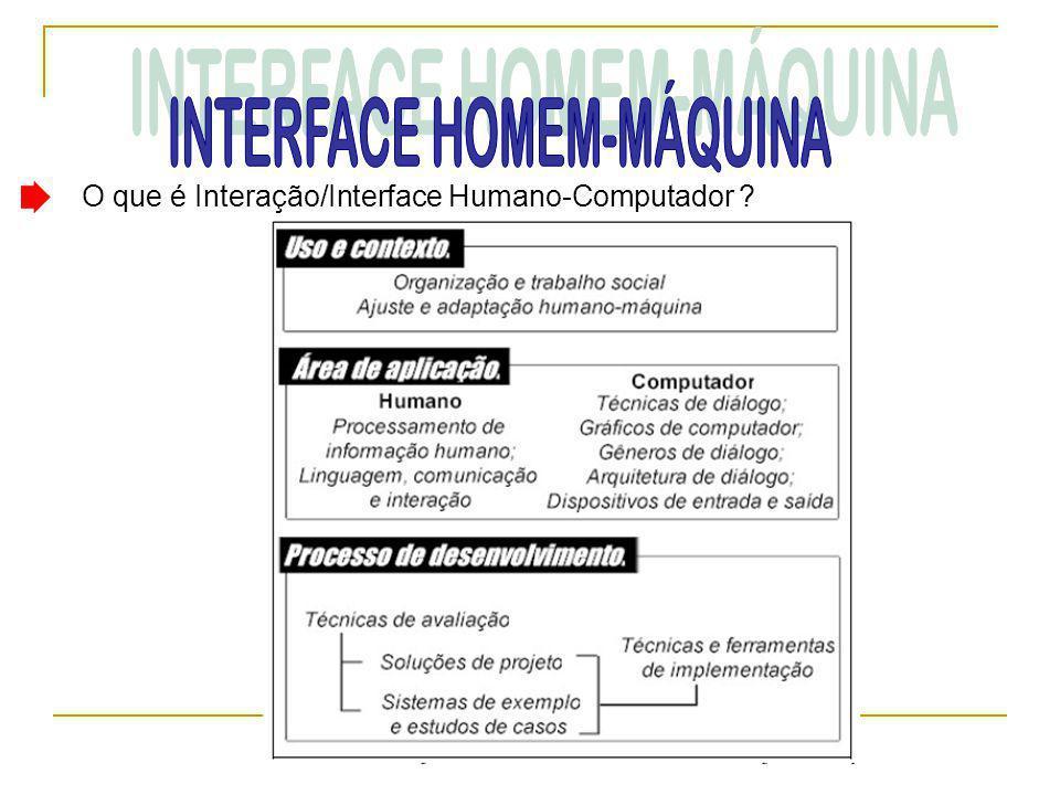 O que é Interação/Interface Humano-Computador ?
