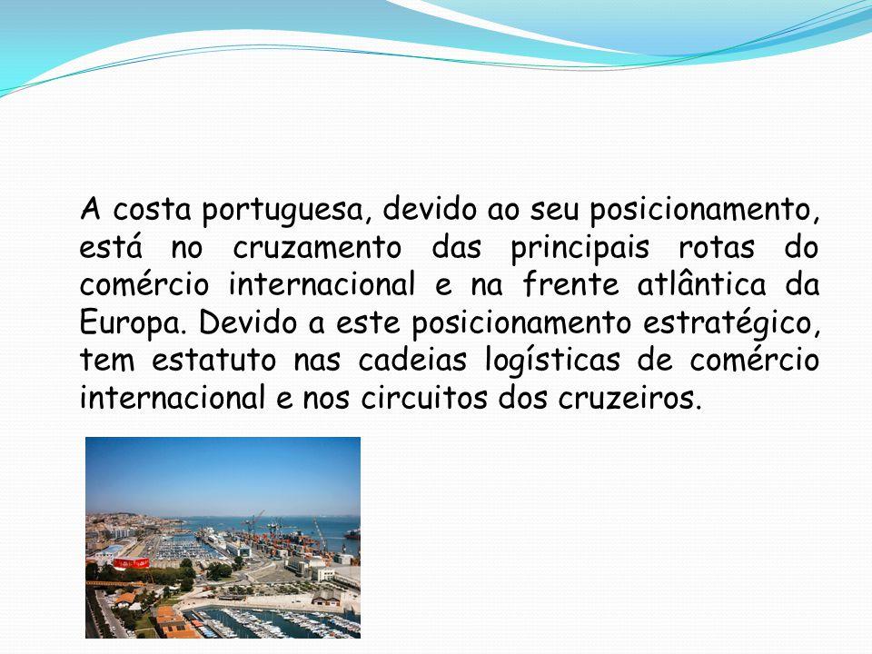 A costa portuguesa, devido ao seu posicionamento, está no cruzamento das principais rotas do comércio internacional e na frente atlântica da Europa.