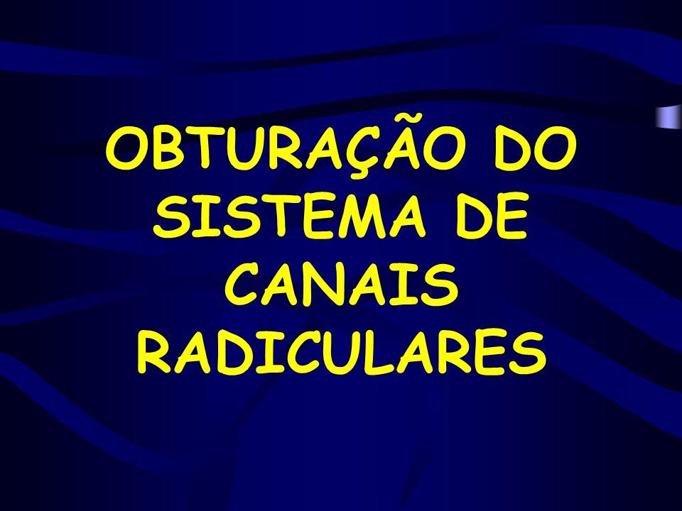 OBTURAÇÃO DO SISTEMA DE CANAIS RADICULARES