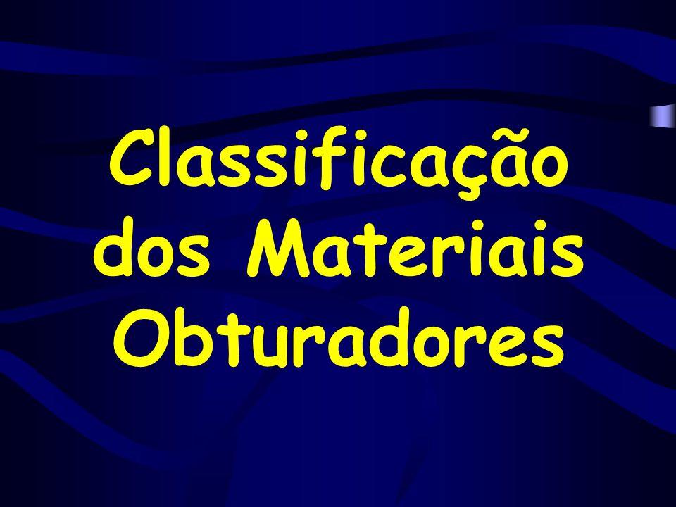 Classificação dos Materiais Obturadores