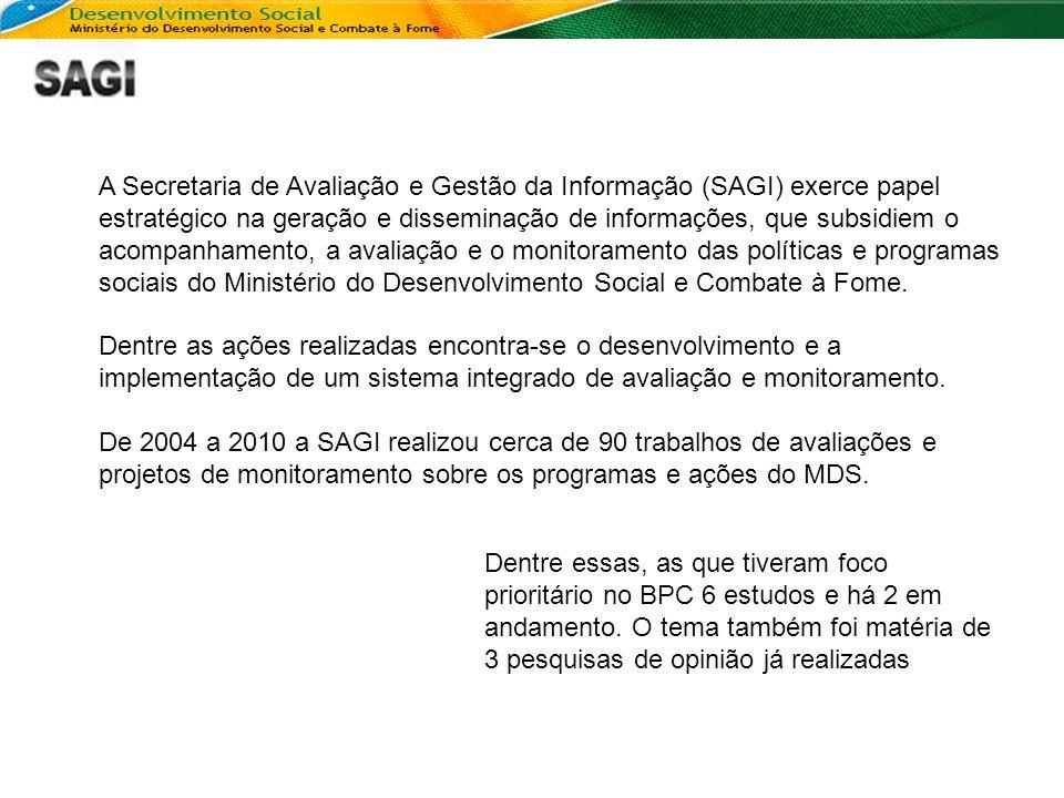 A Secretaria de Avaliação e Gestão da Informação (SAGI) exerce papel estratégico na geração e disseminação de informações, que subsidiem o acompanhame