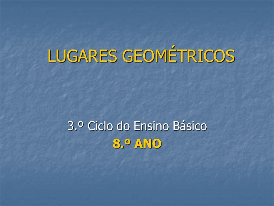 2 Lugares Geométricos  Um lugar geométrico é uma região do plano ou do espaço com determinadas propriedades comuns.