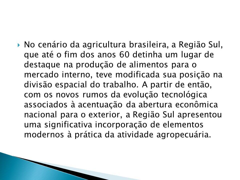  Nos anos 70, a grande expansão da lavoura comercial da soja, decorrente dos estímulos oficiais à produção para a exportação, e a implantação no país de grandes empresas multinacionais de equipamentos e insumos agrícolas; influíram, decisivamente, nas características do processo produtivo regional.