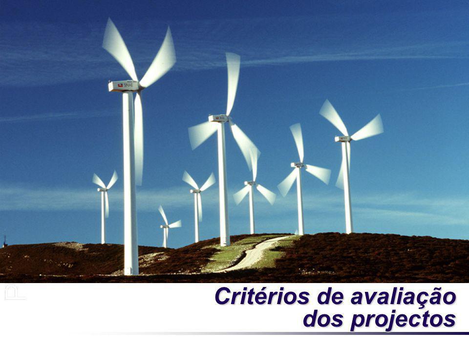 Critérios de avaliação dos projectos