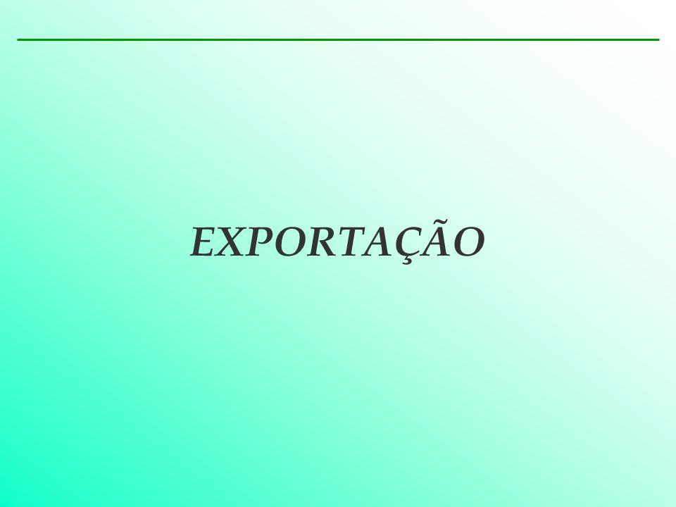 REGISTRO DE EXPORTAÇÃO TRATAMENTO ADMINISTRATIVO NO COMÉRCIO EXTERIOR – EXPORTAÇÃO Utilização de terminais próprios pela empresa Utilização de serviços de terceiros Acesso ao Sistema