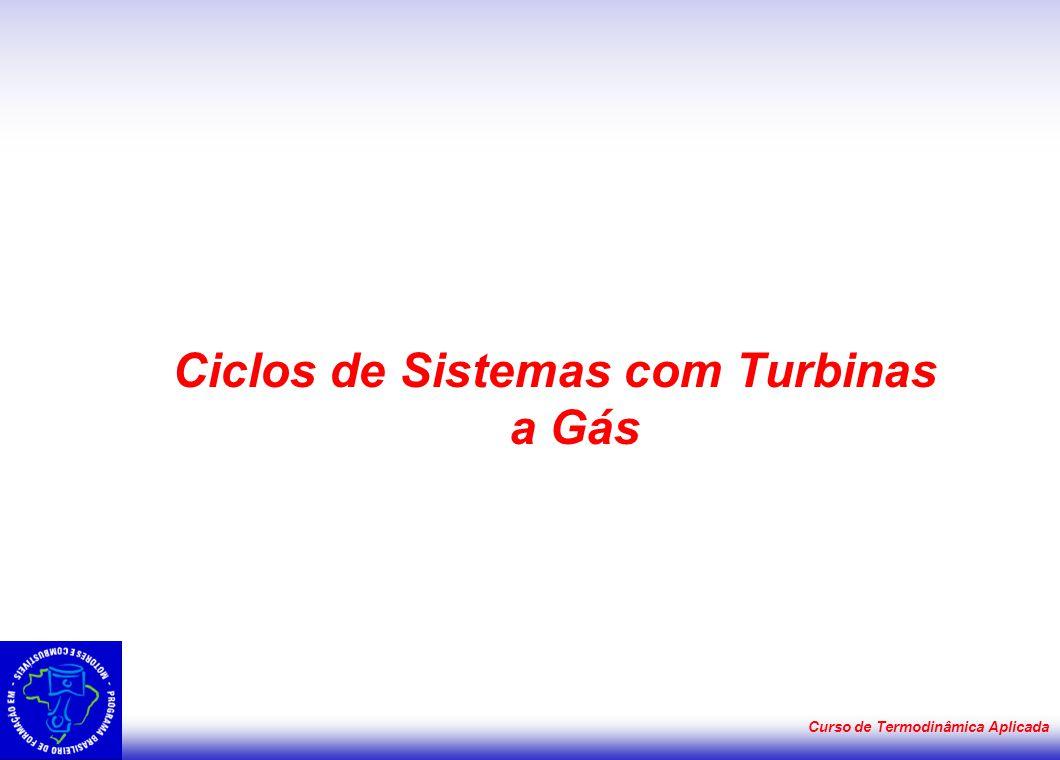Curso de Termodinâmica Aplicada Ciclos de Sistemas com Turbinas a Gás