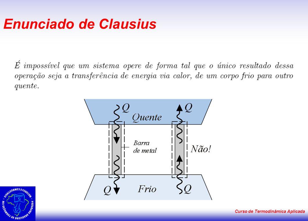 Curso de Termodinâmica Aplicada Enunciado de Clausius