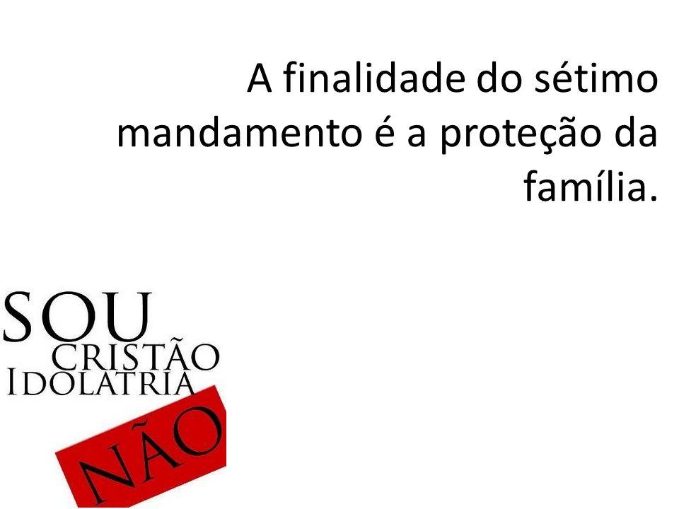 A finalidade do sétimo mandamento é a proteção da família.