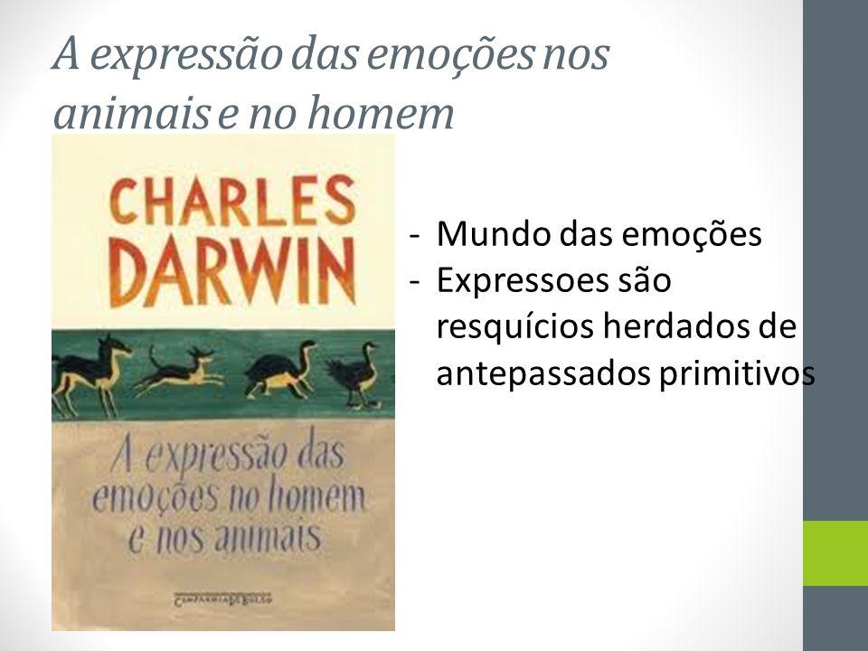 A expressão das emoções nos animais e no homem -Mundo das emoções -Expressoes são resquícios herdados de antepassados primitivos