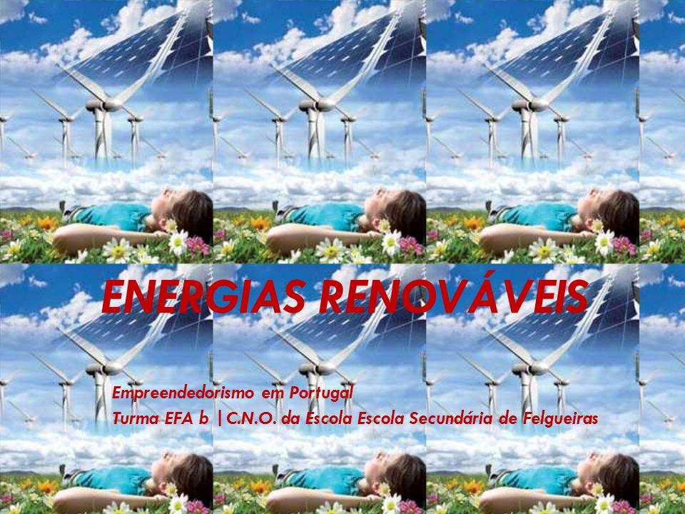 ENERGIAS RENOVÁVEIS Empreendedorismo em Portugal Turma EFA b |C.N.O. da Escola Escola Secundária de Felgueiras