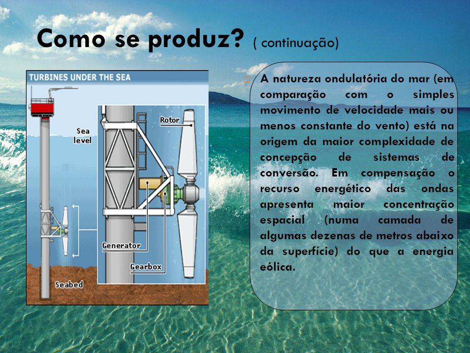  A natureza ondulatória do mar (em comparação com o simples movimento de velocidade mais ou menos constante do vento) está na origem da maior complex