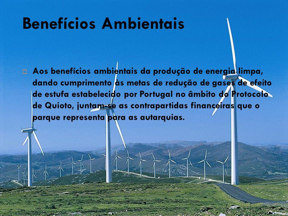 Benefícios Ambientais  Aos benefícios ambientais da produção de energia limpa, dando cumprimento às metas de redução de gases de efeito de estufa est