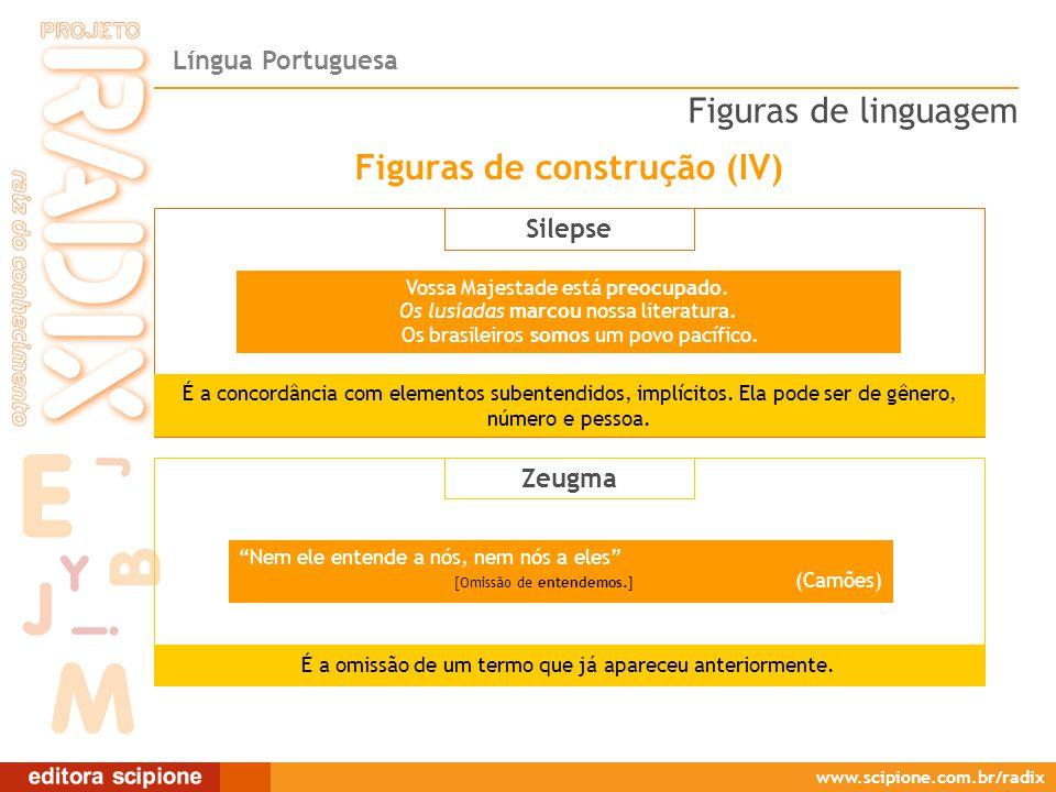 Língua Portuguesa www.scipione.com.br/radix Silepse Vossa Majestade está preocupado.
