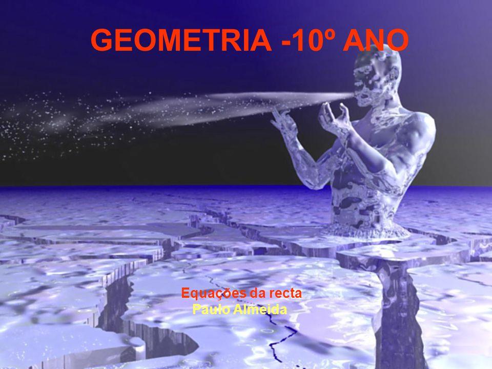 GEOMETRIA -10º ANO Equações da recta Paulo Almeida