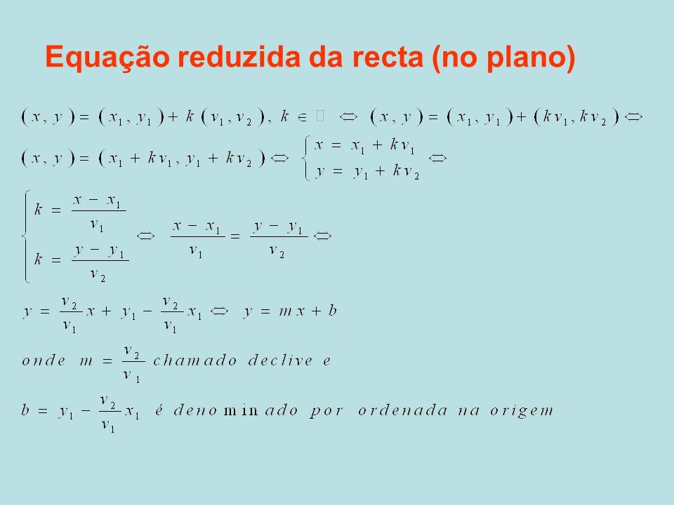 Análise do declive •m=0, significa que a recta tem como vector director um vector com a direcção do eixo Ox, então a recta é horizontal.