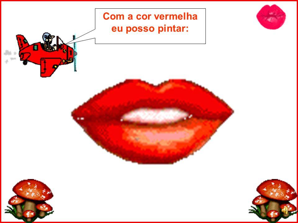 Lá vem o piloto do aviãozinho vermelho nos trazendo novidades!! Hoje ele vai nos mostrar a cor VERMELHA!!!!!