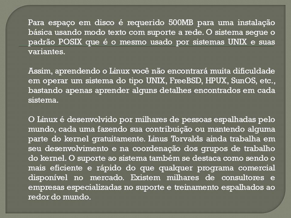 LIMITE (recurso de processo) Por padrão o Linux limita os recursos que cada processo pode ter.